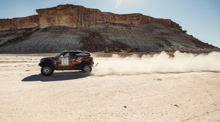 Rally Kazakhstan: Zwei X-raid Rallyefahrzeuge auf dem Podium